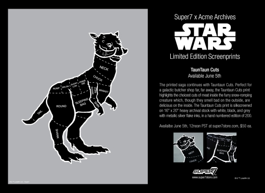 Tauntaun Cuts Print June 5th