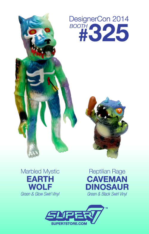 Marbled Mystic Earth Wolf and Reptilian Rage Caveman Dinosaur!
